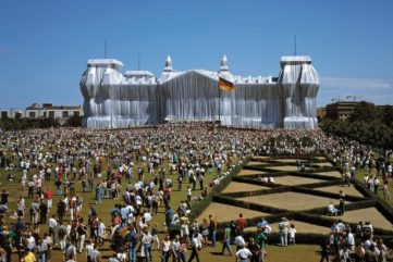 Wrapped Reichstag, Berlin, 1971-95; some of the early projects