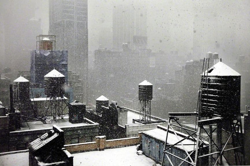 Christophe Jacrot - Winter at my window, New York in White series, 2010