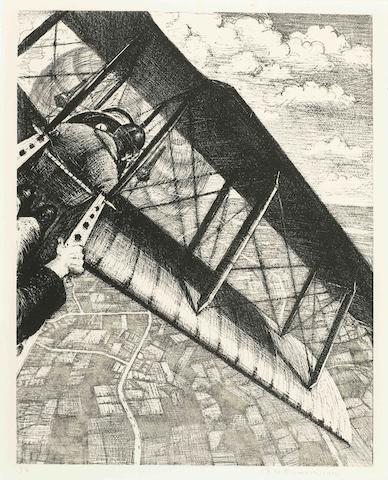 Christopher R. W. Nevinson-Banking At 4,000 Feet (Black 20; Leicester Galleries 23)-1917