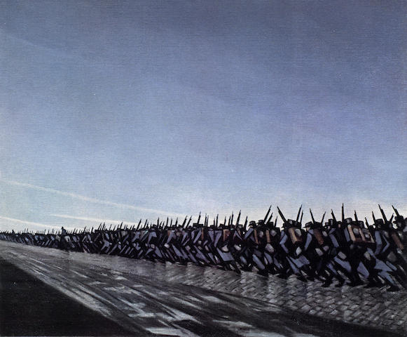Christopher R. W. Nevinson-Column on the March-1917