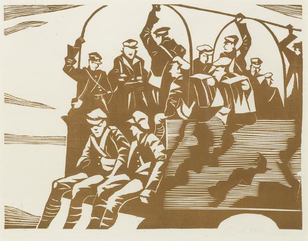 Christopher R. W. Nevinson-MT (Motor Transport)-1918
