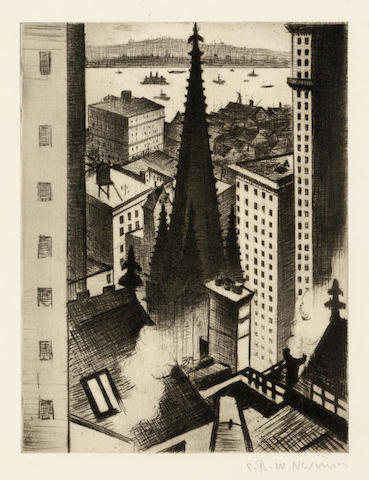 Christopher R. W. Nevinson-Temples of New York-1919