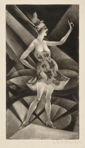Christopher R. W. Nevinson-The Roof Garden (Black 57)-1919