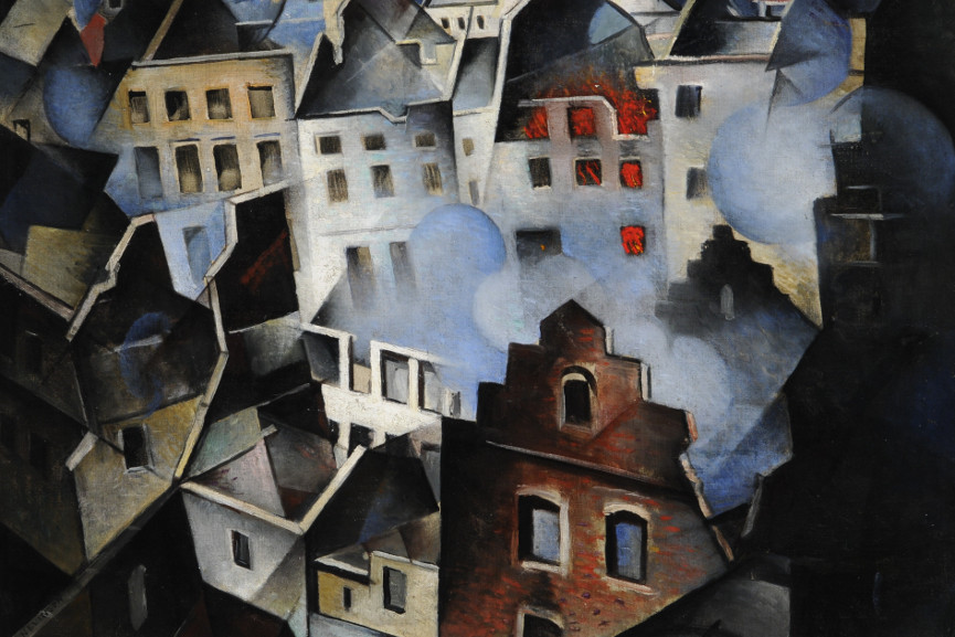 Christopher Richard Wynne Nevinson - Ypres After the First Bombardment 1916