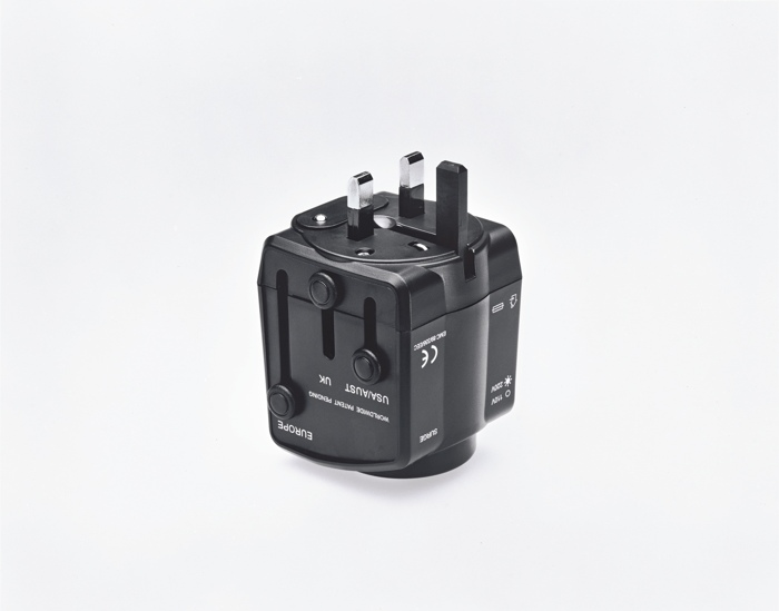Christopher Williams-Universal Travel Adaptor, Scorpio Distributors Ltd., Unit Dz, West Sussex, Great Britain, Product Number Txr77000, Power Rating: 6A Max 125/250Vac, With Built-In Surge Protector, With Safety Shutters, Surge Indicator Light, 110Vac Or 220Vac Light Indicator, Built-In 13A Fuse, Testing Based On International Standard Iec 884-2-5 Witnessed By Tuv, Ce Emc Approval, Photography By The Douglas M. Parker Studio, Los Angeles, California, December 15, 2005-2005