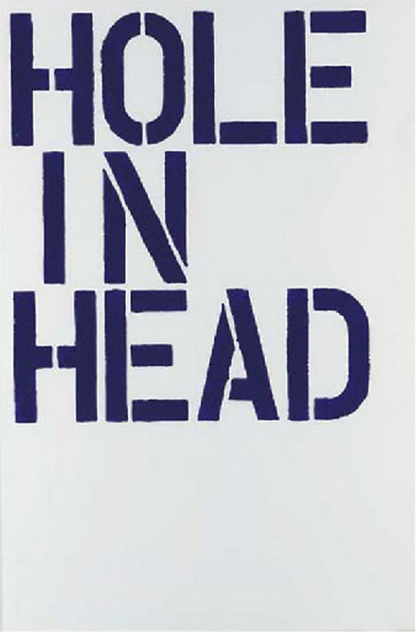 Christopher Wool-Hole in Head (F38)-1992