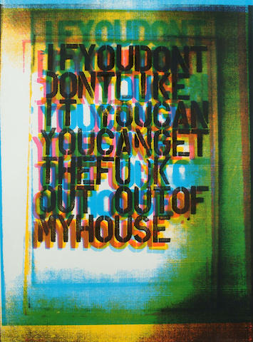Christopher Wool-My House II-2000