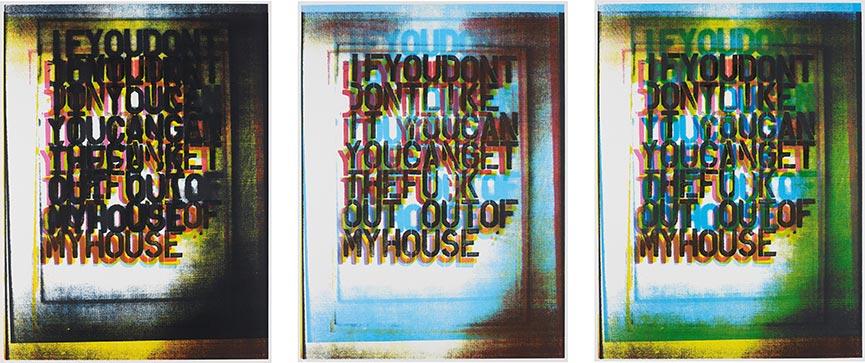 Christopher Wool-My house I, II and III-2000