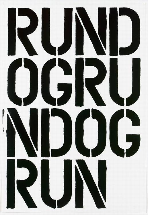 Christopher Wool-Run Dog Run-1990