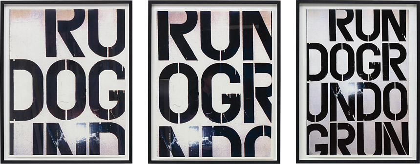 Christopher Wool-Run Dog Run-1991