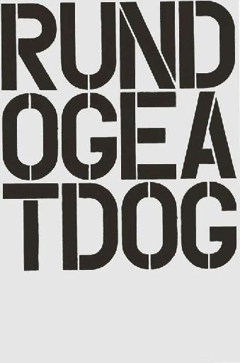 Christopher Wool-W24 (Run Dog Eat Dog)-1990