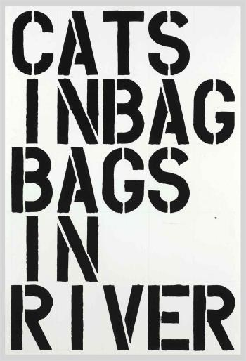 Christopher Wool-Untitled (Cats in Bag, Bags in River)-1990