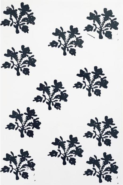 Christopher Wool-Untitled (Flower Grid Small)-1990