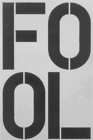 Christopher Wool-Untitled (Fool)-1990
