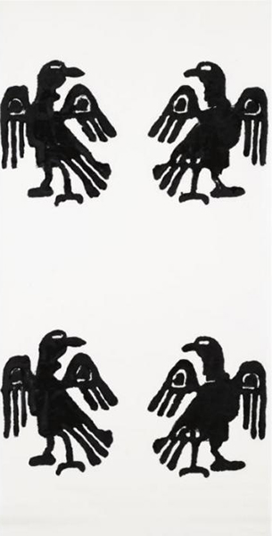 Christopher Wool-Untitled (Four Eagles)-1989