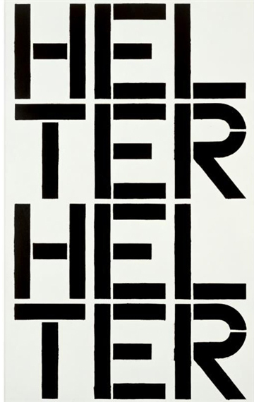 Christopher Wool-Untitled (P80) Helter Helter-1988