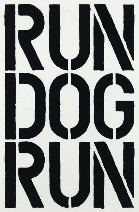 Christopher Wool-Untitled (Run Dog Run, 1990)-1990