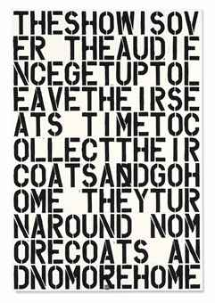 Christopher Wool-Untitled (The Show is Over)-1990