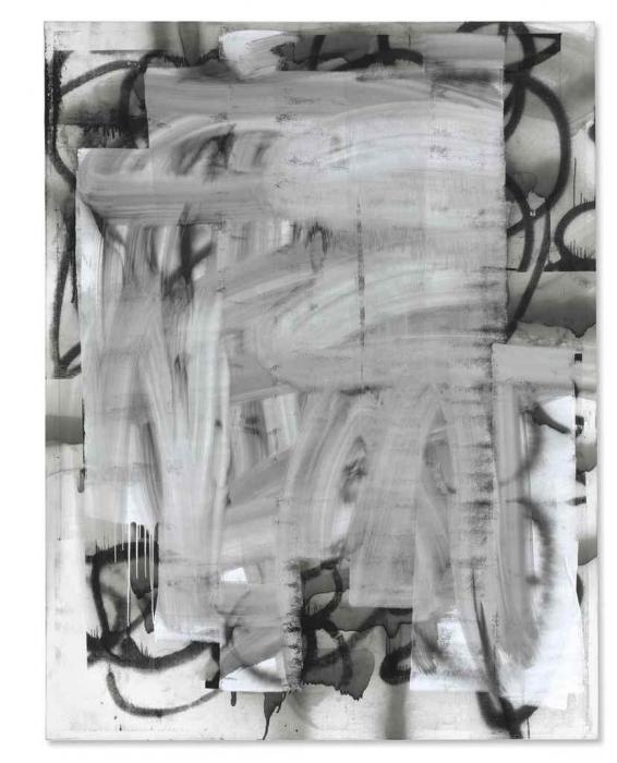Christopher Wool-Untitled (Wool 2003 Enamel on Canvas on Overlap)-2003