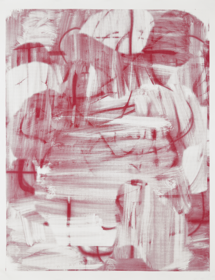 Christopher Wool-Untitled (Wool 2008, Red Smeared, Unique)-2008