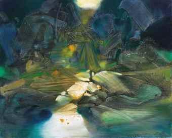 Chu Teh-Chun-Resonance des profondeurs I (Echo of Depths I)-1987