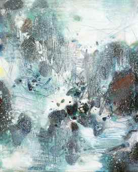 Chu Teh-Chun-Synthese hivernale (Wintry synthesis)-1985