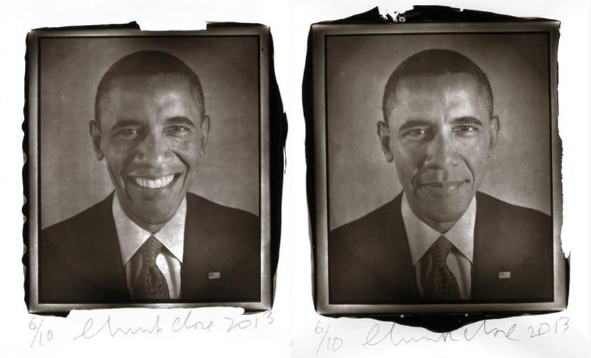 Chuck Close - Portrait of Barack Obama, 2013