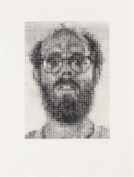 Chuck Close-Self-Portrait (Pernotto 51, Butler Institute 13)-1988