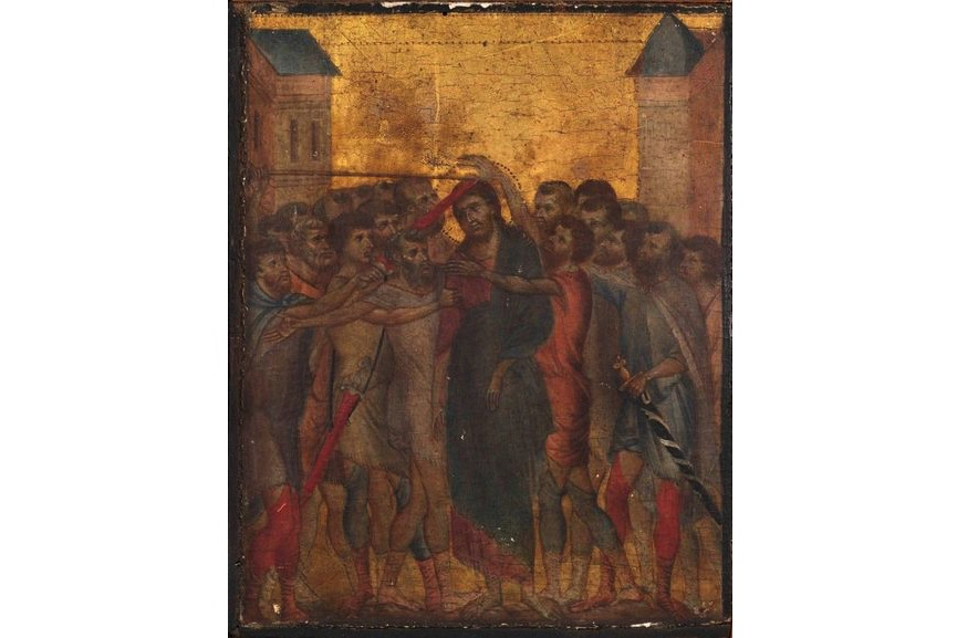 Cimabue - Christ Mocked, painted in 13th century and bought by a foreign museum