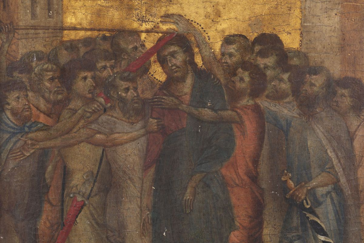 Cimabue - Christ Mocked (detail), 13th century, among rediscovered paintings