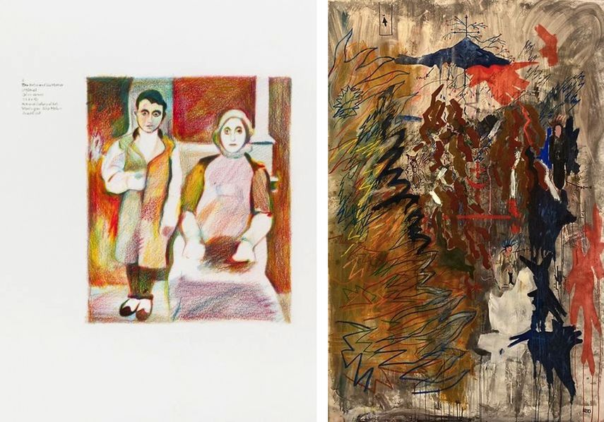 Ciprian Muresan - Suicide Series, Arshile Gorky - The Artist and his Mother 1926-36, 2014-2015, Shotiko Aptsiauri - Mountain of Shifting Realities, 2019.