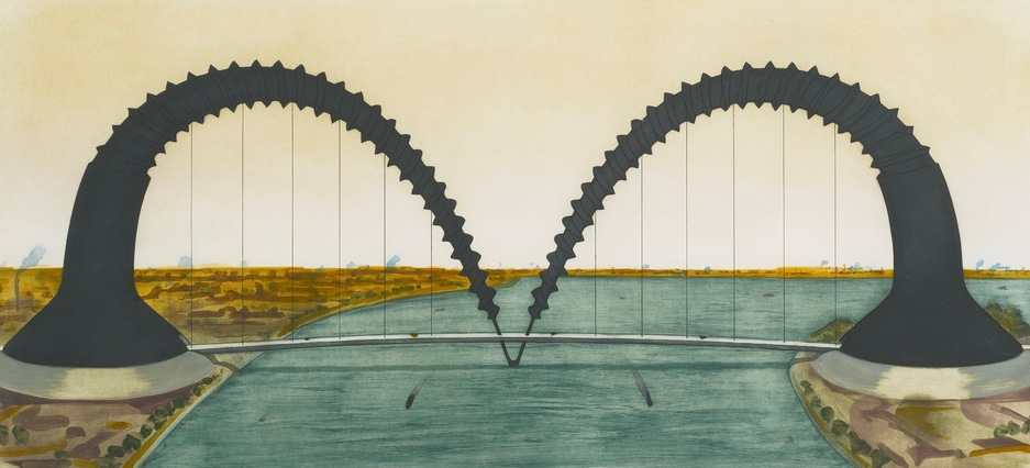 Claes Oldenburg-Screwarch Bridge (State III)-1981