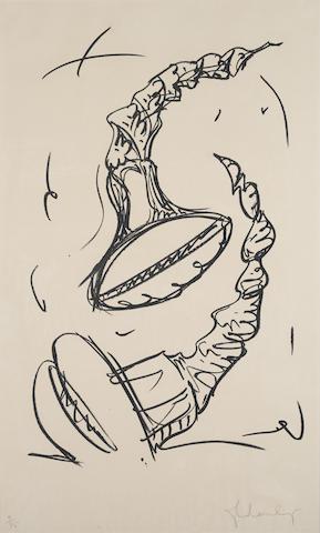 Claes Oldenburg-Soft Screws Tumbling #2-1976