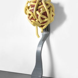 Claes Oldenburg-Coosje Van Bruggen-Claes Oldenburg and Coosje van Bruggen - Leaning Fork with Meatball & Spaghetti III-1994
