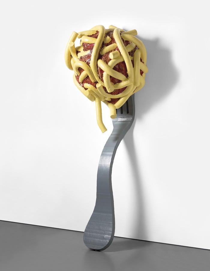 Claes Oldenburg-Coosje Van Bruggen-Claes Oldenburg and Coosje van Bruggen - Leaning Fork with Meatball & Spaghetti III-1994