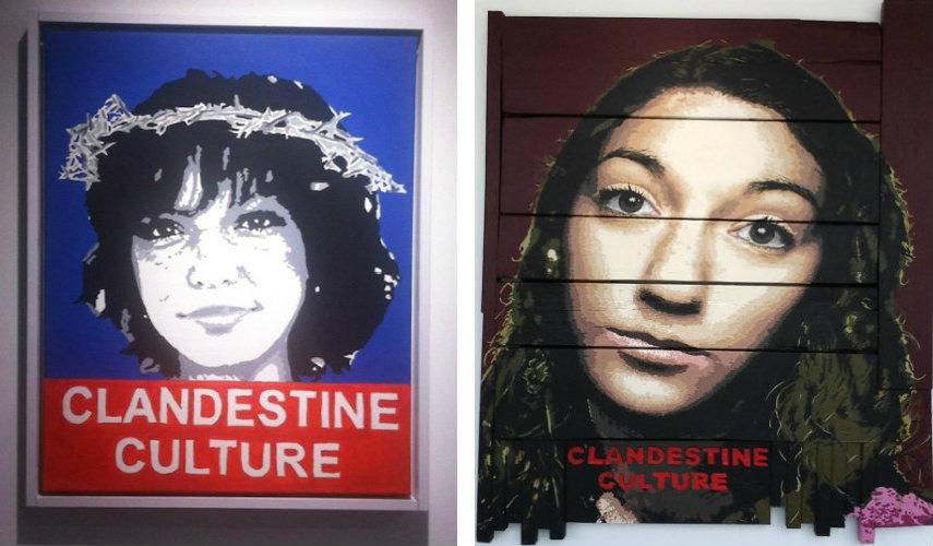Clandestine Culture - Andrea Gomez, 2012 (left) - Untitled (Jewish Girl), 2014