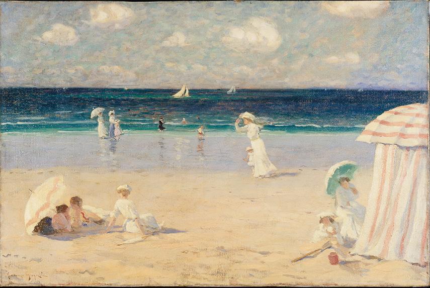 Clarence Gagnon – Summer Breeze at Dinard, 1907