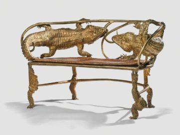 Claude Lalanne - Banquette crocodile, 2006-2007