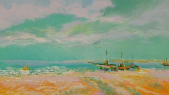 Claude Manoukian – Bateaux à voile Sailboats – Image courtesy of Sylvan Cole Gallery