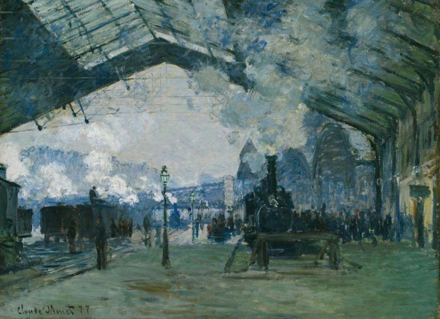 Claude Monet - Arrival of the Normandy Train, Gare Saint-Lazare, 1877