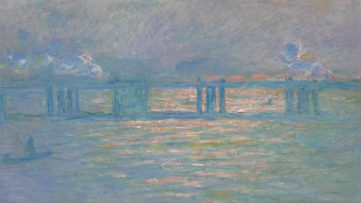 Claude Monet - Charing Cross Bridge, 1903, on view at sotheby's new york sale