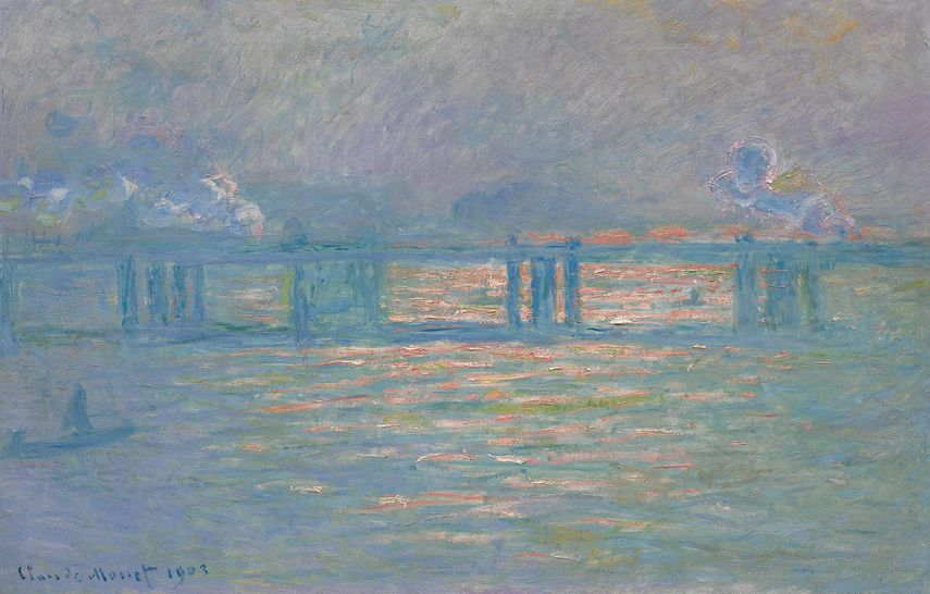Claude Monet - Charing Cross Bridge, 1903, on view in the upcoming 2019 Sotheby's auction