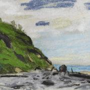 Claude Monet - Cote Pres De Honfleur (Detail)