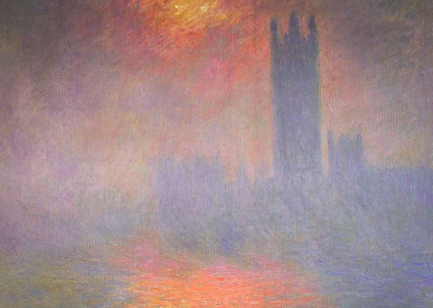 Claude Monet - Houses of Parliament. The Sun Shining through the Fog