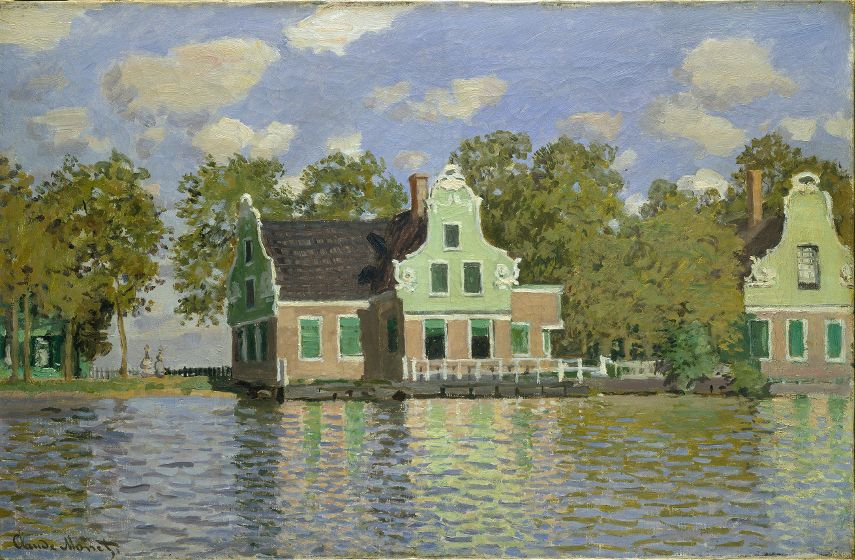 Houses on the Banks of the Zaan, Zaandam (Maisons au bord de la Zaan, Zaandam), 1871 © Artothek