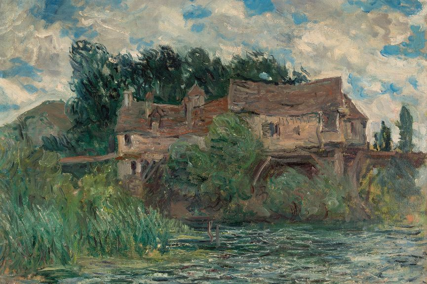 Houses on the Old Bridge at Vernon (Maisons sur le vieux pont de Vernon), 1883 © New Orleans Museum of Art