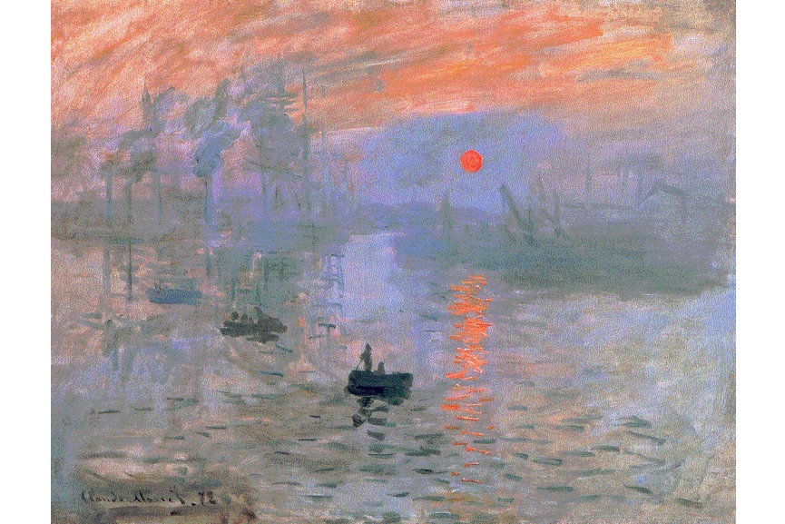 Claude Monet - Impression, Soleil levant, 1872. Musée Marmottan Monet, Paris, France