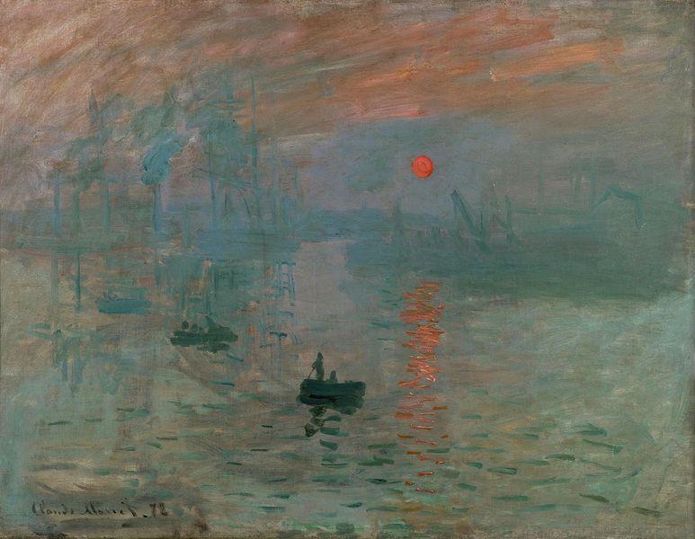 Claude Monet - Impression, Sunrise, 1872, Monet's water landscape