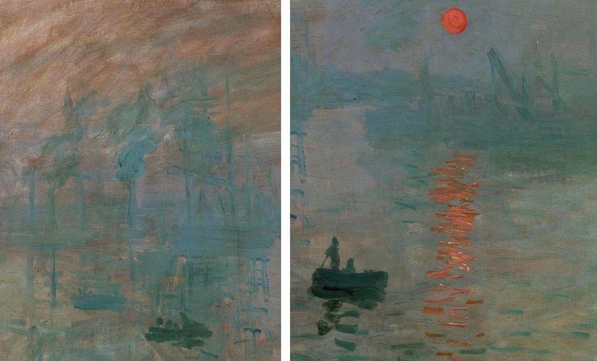 Claude Monet - Impression, Sunrise (details), 1872
