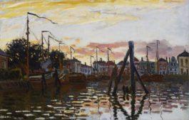 Claude Monet-Le Port De Zaandam-1871